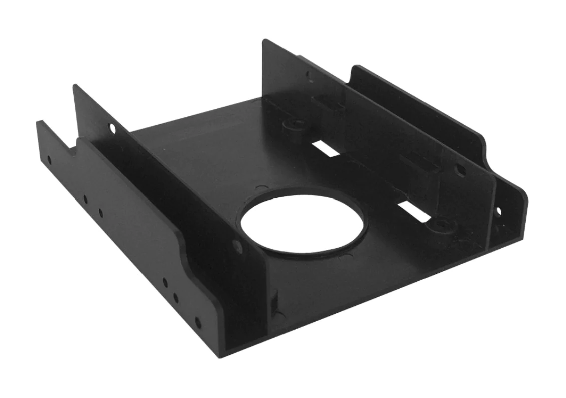 "2.5"" to 3.5"" Dual Bay Adapter Converter Bracket for SATA and SSD Drives with Screws"
