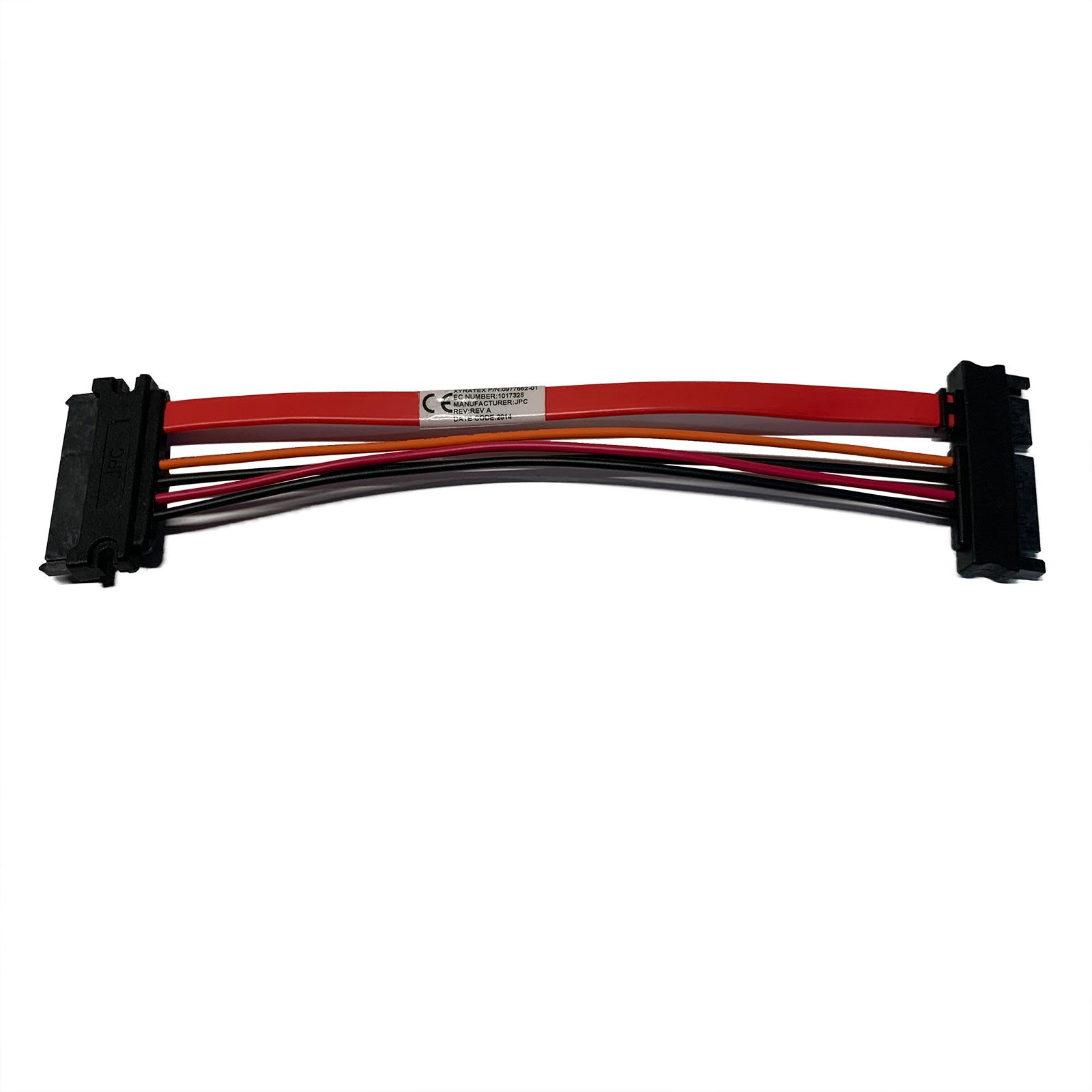 "7"" (7-Inch) 22-Pin (7+15) SATA Male to Female SATA and Power Combo Extension Cable"