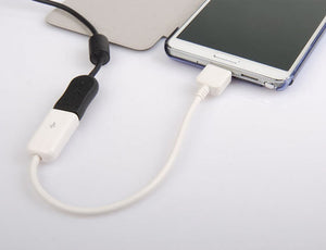 "8"" White OTG Micro USB 3.0 Host Cable Adapter for Samsung Galaxy Note3 N900 N900"