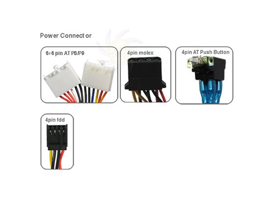 Athena Power AP-AT30 300W AT Power Supply 6Pin P8 + 6pin P9 Connector