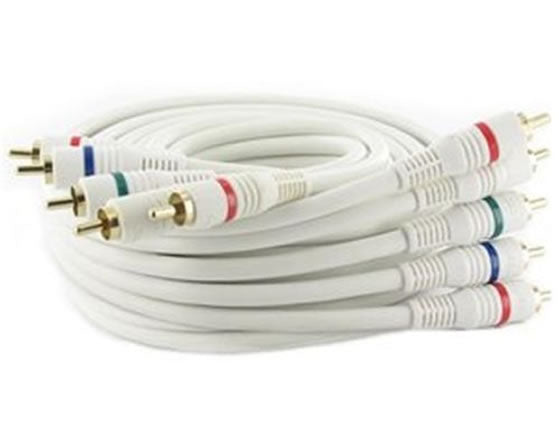 P3V2A-25W 25Ft (25 Feet) 5-RCA Component Video/Audio Male to Male Cable