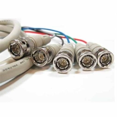 5-BNC to 5-BNC Male/Male RGBHV High Resolution Video Cable