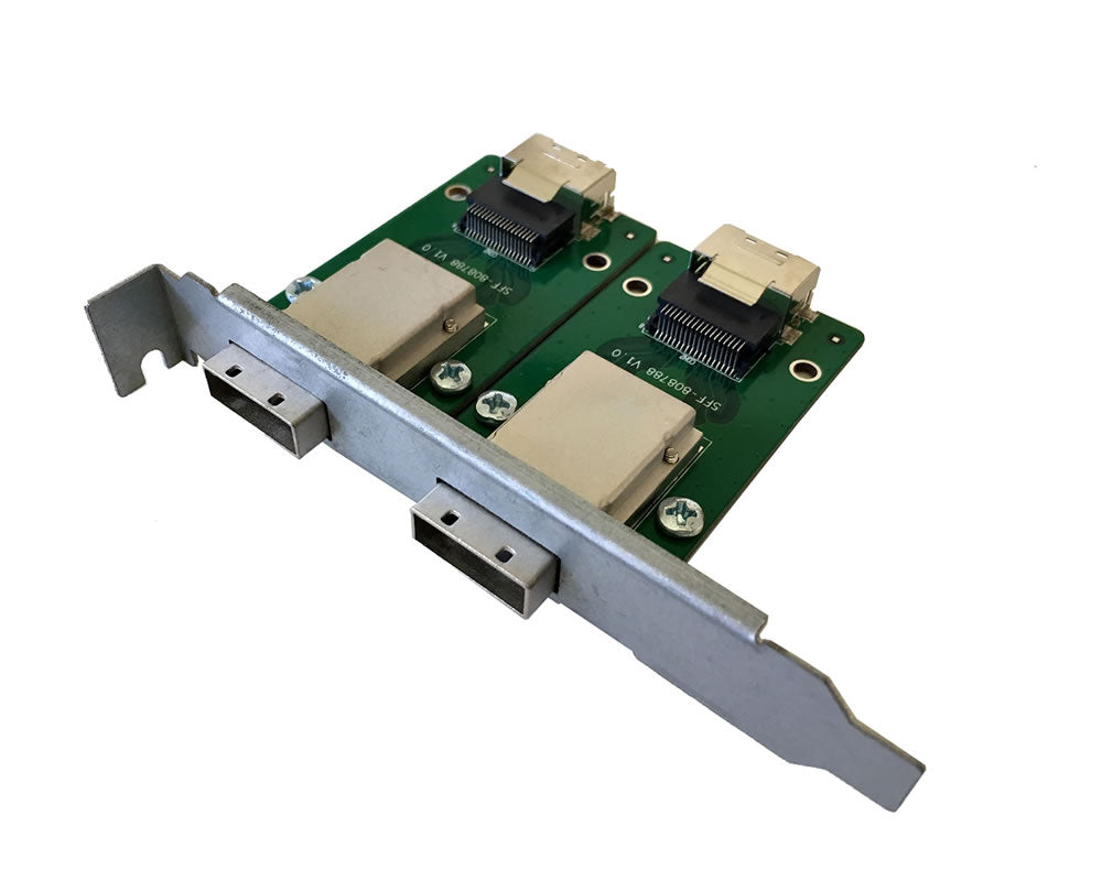 2-Port SFF-8087 Mini SAS 36-Pin to SFF-8088 Mini SAS 26-Pin Adapter Full PCI Bracket Adapter
