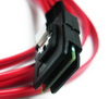 "AYA 24"" (2 Feet) 4 SATA (Serial ATA) 7-Pin to Mini SAS SFF-8087 36-Pin Reverse Breakout Cable Red"