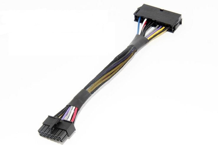"8"" (8-Inch) ATX 24-Pin to 14-Pin Power Supply Cable Adapter 18AWG for Lenovo IBM"