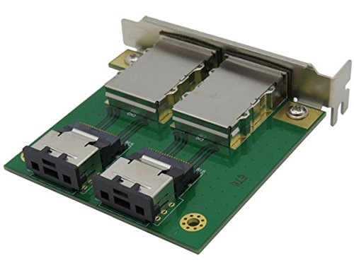 2-Port SFF-8087 to SFF-8088 PCI Mounting Adapter with Low and Full Profile Bracket