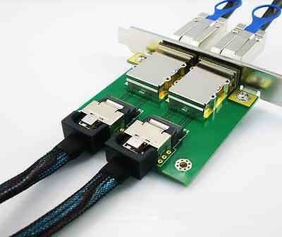 Norco C-8087-8088F 2-Port SFF-8087 to SFF-8088 Adapter with Full PCI Slot Profile Mounting Bracket