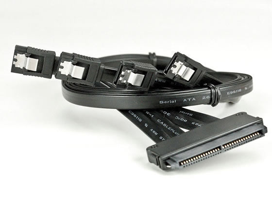 "SAS32P-47 30"" 32 Pin SAS Controller to 4x SATA (7 Pin) HDD Serial ATA Cable (30 inch)"