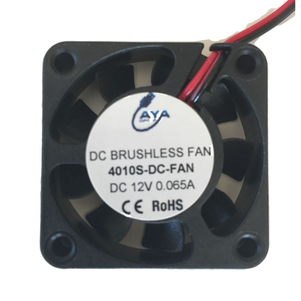 DC Brushless 12V 0.065A 40X40X10mm 6500RPM Cooling Small Exhaust Fan with 2 Dupont Wire Connector