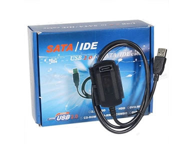 IDE-SATA-USB-CABLE USB 2.0 to SATA and IDE Cable Converter Adapter