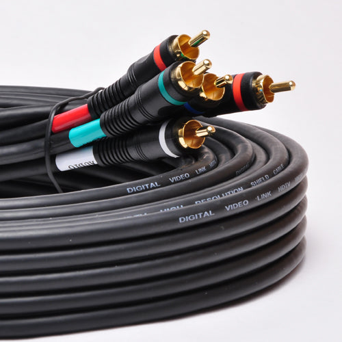 P3V2A-50 50Ft 5-RCA Component Video/Audio Coaxial Cable RG-59/U for HDTV DVD VCR