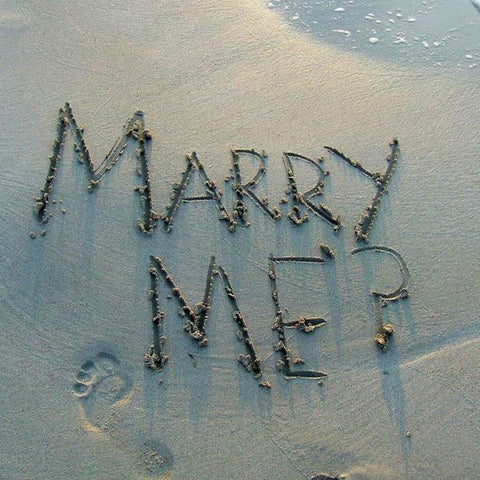 marry me on the sand