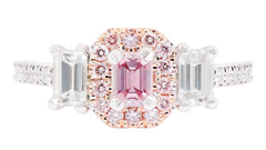 Smales Bespoke Pink Diamond Ring