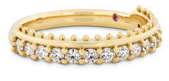 sloane picot all in a row band in yellow gold
