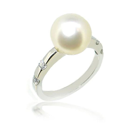Smales South Sea Pearl and Diamond Ring