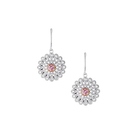 pretty in pink diamond earrings