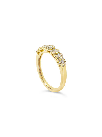 Seven Stone Halo Dress Ring