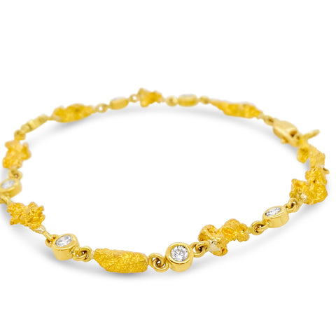 Smales Gold Nugget Bracelet