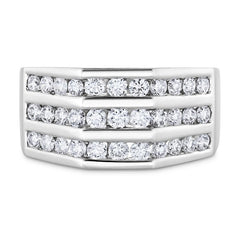 Smales Mens Diamond Ring in White Gold Jewellery