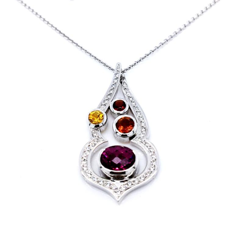 Smales Arabian Nights  18ct Mixed Jewelled Pendant Perth