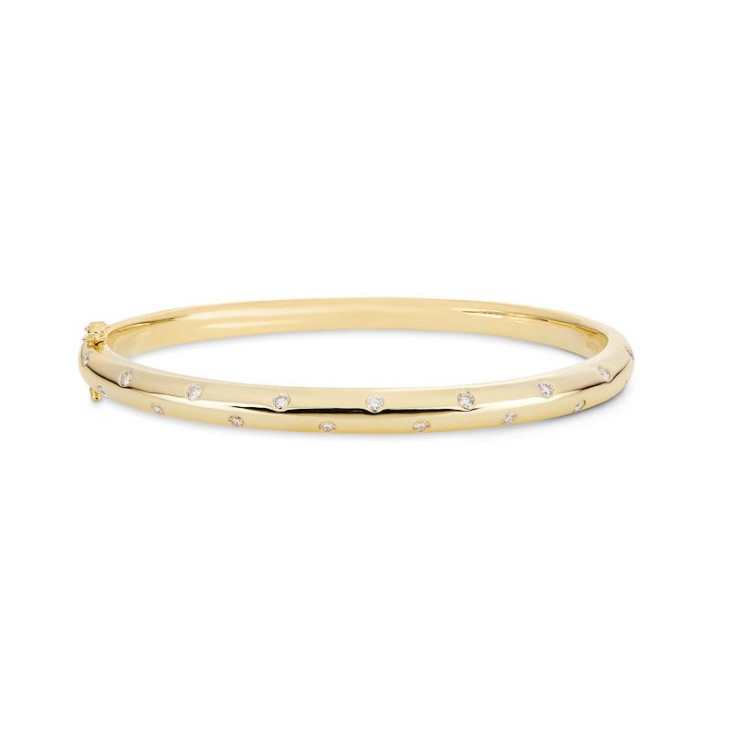 Yellow Gold Diamond Set Bangle