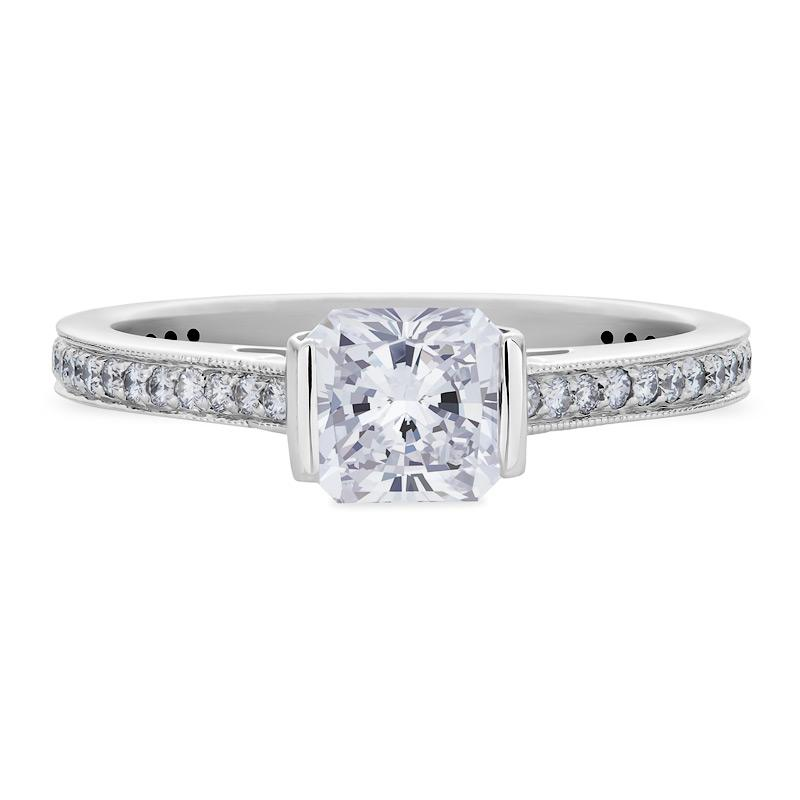 Smales Diamond Engagement Ring Radiant Cut in White Gold