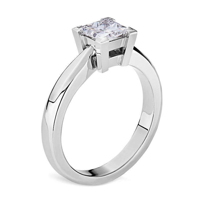 Smales Princess Cut Diamond Engagement Ring in White Gold