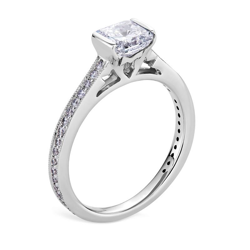 Smales Diamond Engagement Ring Radiant Cut in White Gold Perth