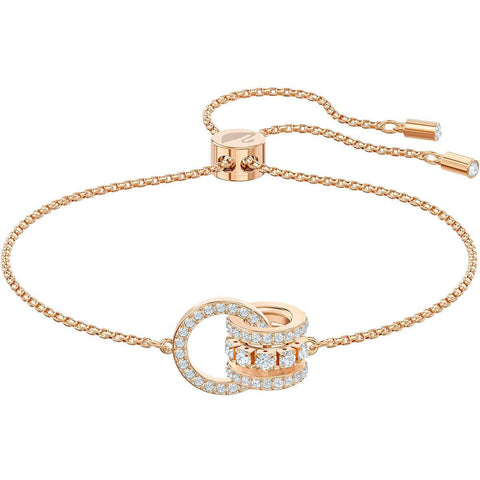 Swarovski Further Bracelet, White, Rose-Gold Plated