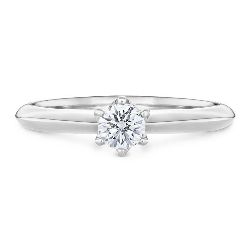 Solitaire Diamond Engagement Ring in White Gold Jewellery