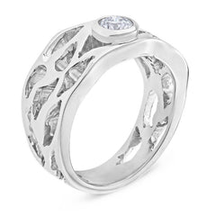 Smales Diamond Dress Ring in White Gold