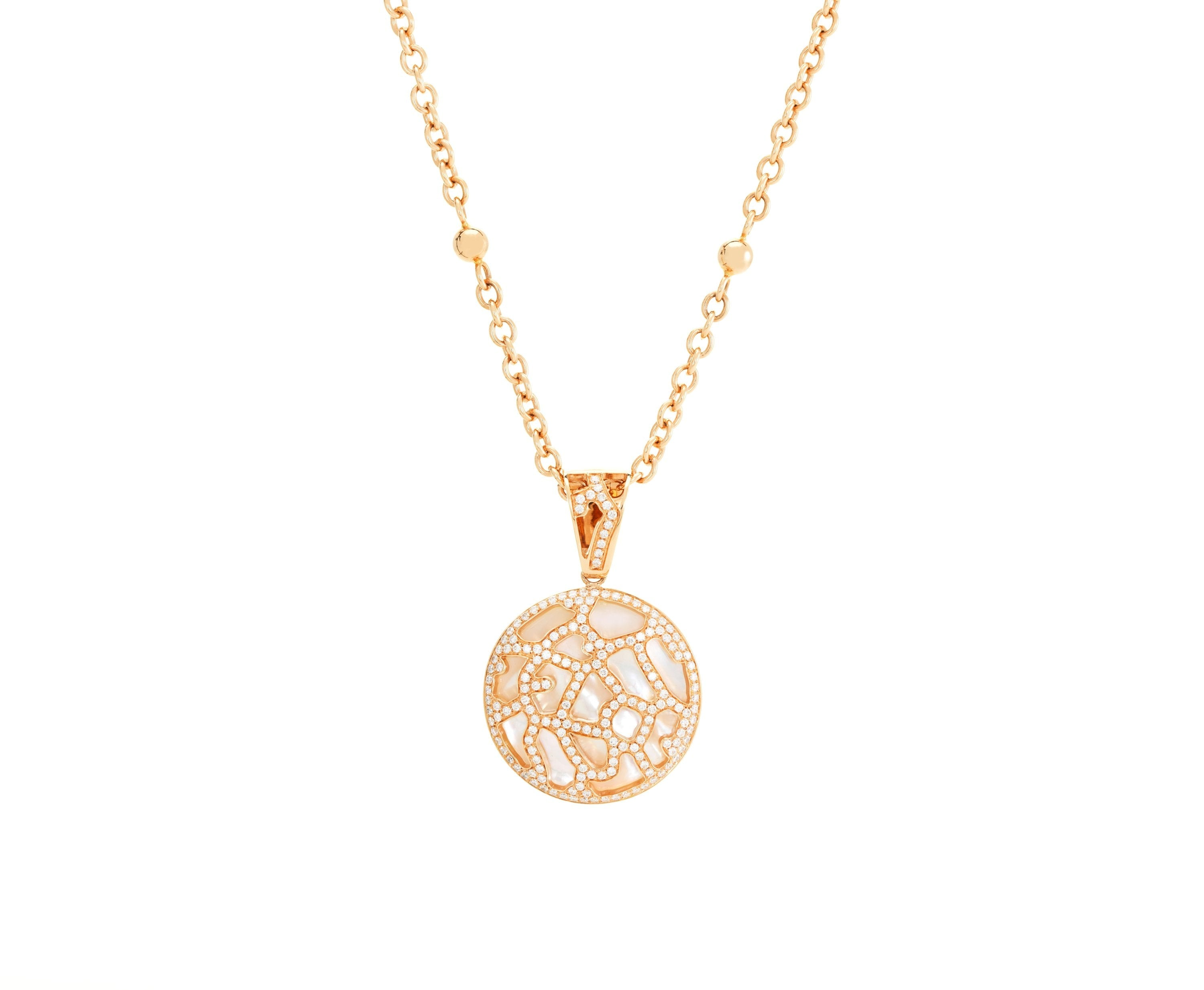 Circle Diamond, Pearl and Gold Pendant Jewellery