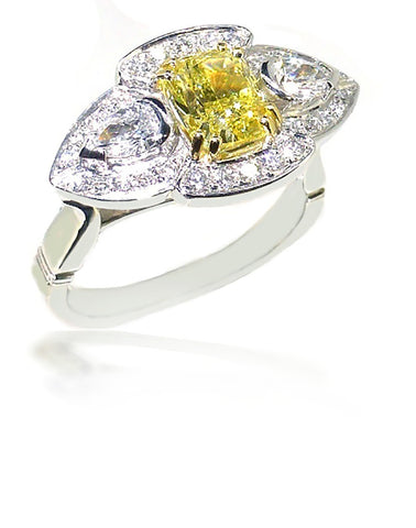 Smales 18ct Two Tone Yellow Diamond Engagement Ring