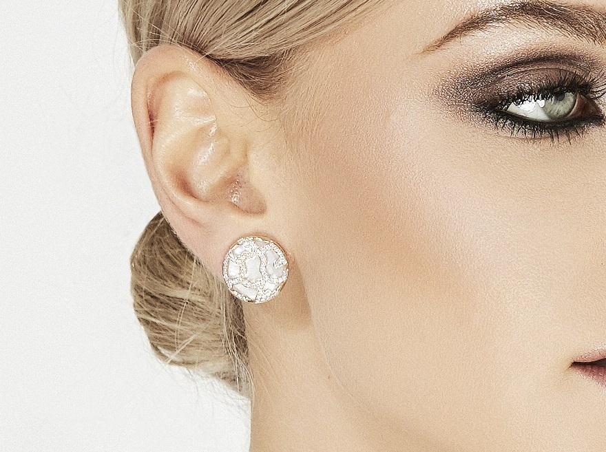 Circle Diamond, Pearl & Gold Earrings Perth Jewellery