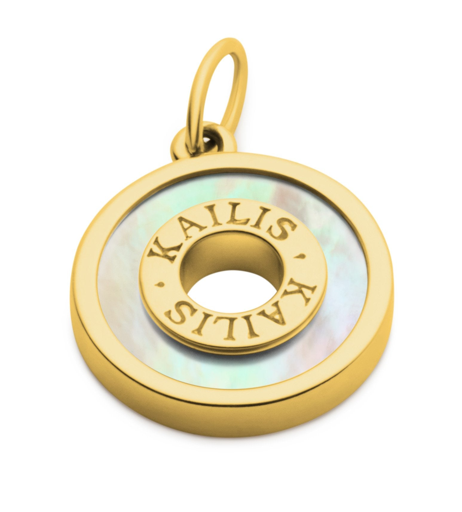Kailis Mother of Pearl Charm, Yellow Gold