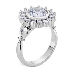 Smales Diamond Engagement Ring Halo Design in White Gold