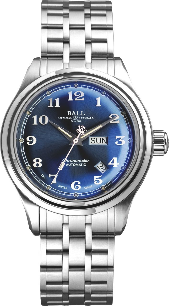 Gents BALL Trainmaster Cleveland Express – Blue Dial