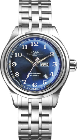 Gents BALL Trainmaster Cleveland Express – Blue Dial Watch Perth