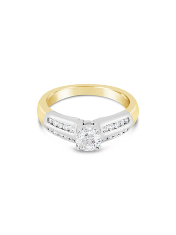 Smales Double Row Engagement Ring Perth