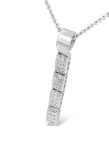 PM Drop Diamond Pendant Necklace