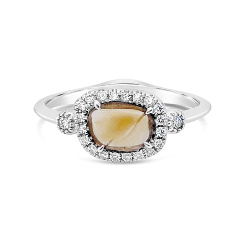 Cognac Slithered Diamond Ring