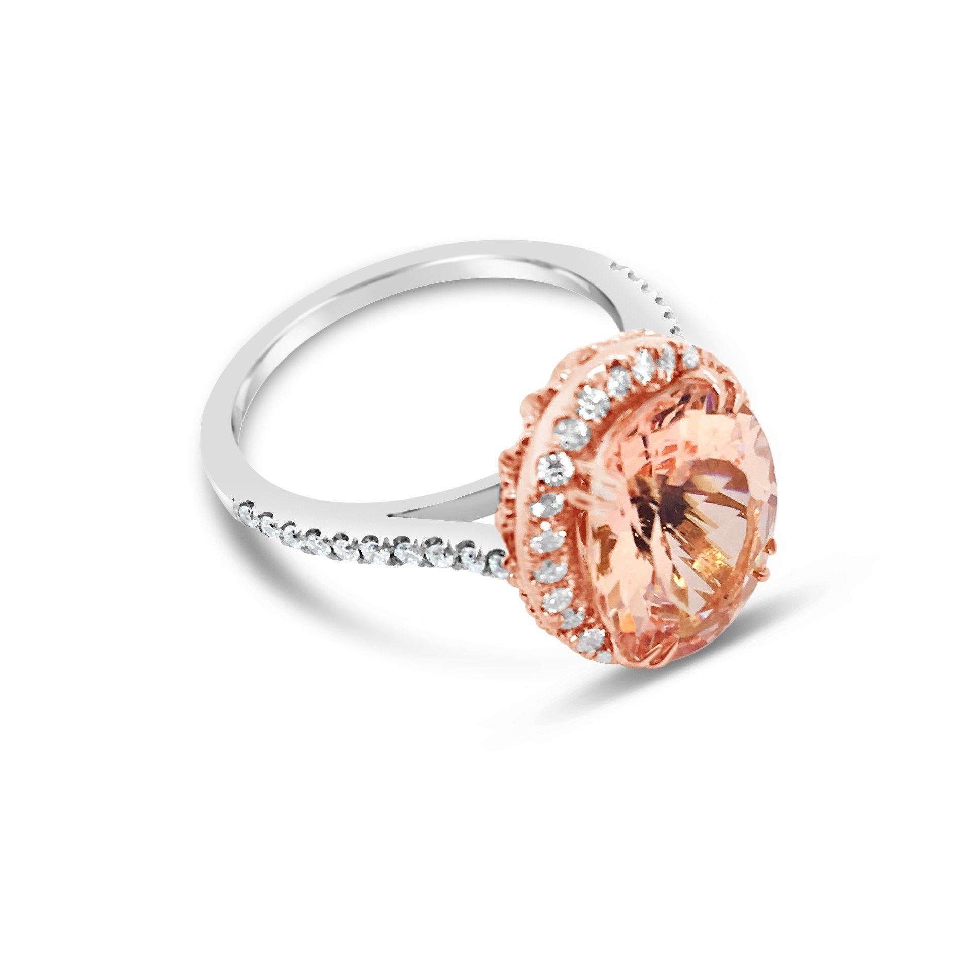 Smales Bespoke Morganite & Diamond Ring
