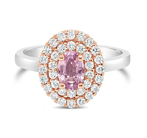 Smales Delicate Pink Sapphire Diamond Ring Perth