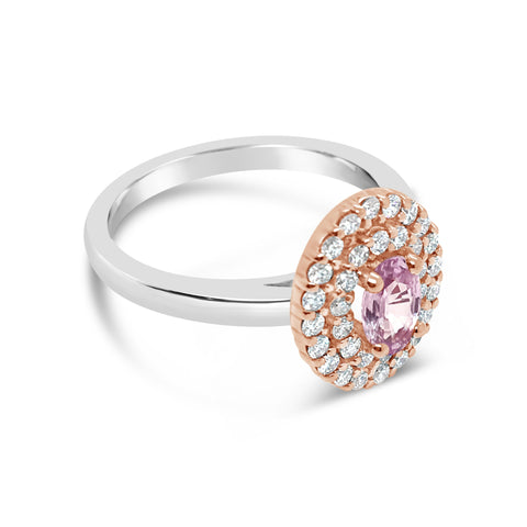 Smales Delicate Pink Sapphire Diamond Ring Jewellery Perth