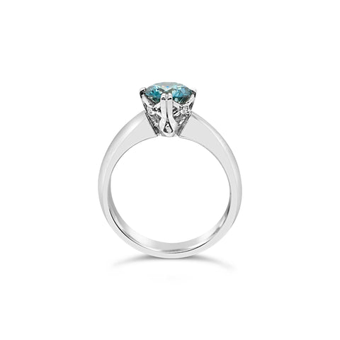 The Ultimate Smales Blue Diamond Engagement Ring