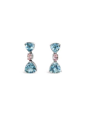 Ocean Drop Aquamarine Earrings