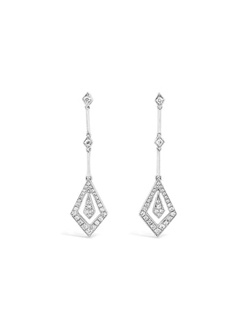 Smales Diamond Drop Shaped Earrings Perth