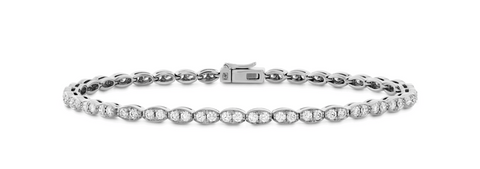Lorelei Floral Diamond Line Bracelet - S Jewellery