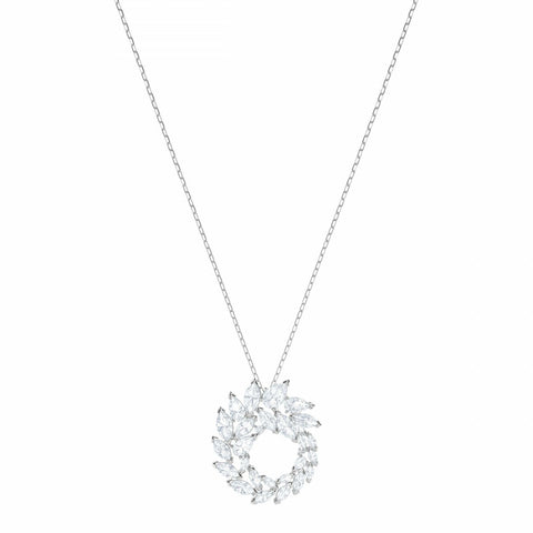 Swarovski Louison Pendant, White Rhodium Plated