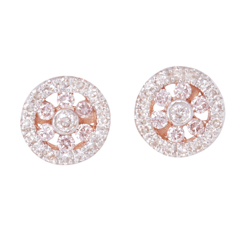 Mon Petit Pink Diamond Collection - Certified Argyle Pink Studded Earrings